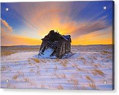 Glowing Winter Acrylic Print by Kadek Susanto
