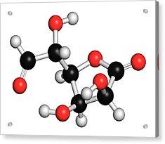 Glucuronolactone Molecule Acrylic Print by Molekuul