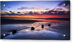 Glyne Gap Sunrise Acrylic Print by Mark Leader