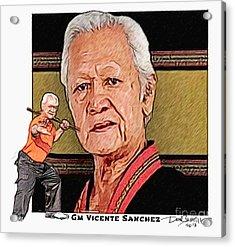 Gm Vicente Sanchez Acrylic Print by Donald Castillo