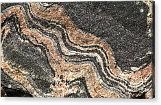 Acrylic Print featuring the photograph Gneiss Rock  by Les Palenik