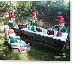 Gnome Cooking Acrylic Print