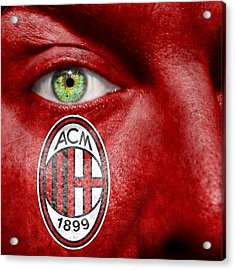 Go Ac Milan Acrylic Print by Semmick Photo