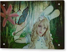 Go Ask Alice Acrylic Print by Christine Holding