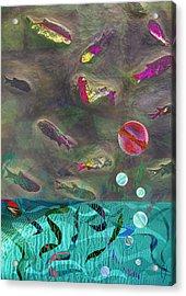 Go Fish Acrylic Print by Maria Jesus Hernandez