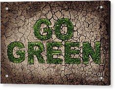 Go Green Acrylic Print by Jelena Jovanovic