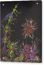 Go On Shake Hands Acrylic Print