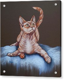 Acrylic Print featuring the painting Go On Throw It Again by Cynthia House