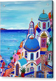 go to Santorini now Acrylic Print