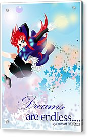 Go Up To Your Dream Acrylic Print by Racquel Delos Santos