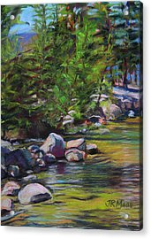 Go With The Flow Acrylic Print by Julie Maas