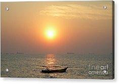 Goa Sunset Acrylic Print by Mini Arora
