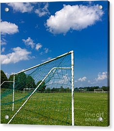 Goal. Football Pitch. France Acrylic Print by Bernard Jaubert