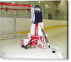 Goalie Acrylic Print by Lisa Wooten