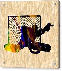 Goalie Acrylic Print by Marvin Blaine