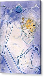 Goalie Missed Acrylic Print by Rosemary Hayes