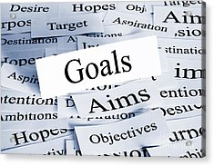 Goals Concept Acrylic Print by Colin and Linda McKie