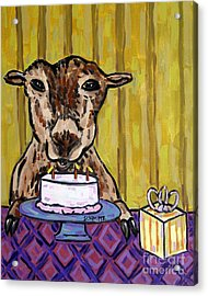 Goat At The Birthday Party Acrylic Print by Jay  Schmetz