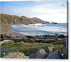 Goat Rock State Beach On The Pacific Ocean Near Outlet Of Russian River-ca  Acrylic Print by Ruth Hager