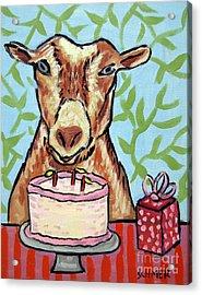 Goat's Birthday Acrylic Print by Jay  Schmetz