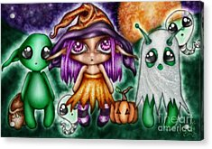 Goblins Witches And Scares Oh My Acrylic Print by Coriander  Shea