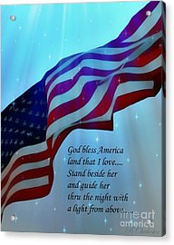 God Bless America Acrylic Print by Barbara Chichester