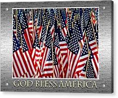 God Bless America Acrylic Print by Carolyn Marshall