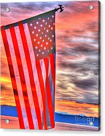 God Bless America Over Puget Sound Acrylic Print