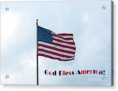 God Bless America Acrylic Print by Marguerita Tan