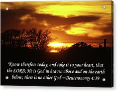 Acrylic Print featuring the photograph God In Heaven by Robyn Stacey