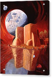 Acrylic Print featuring the painting God Is In The Moon by Art James West
