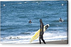 God Is Our Refuge At The Ocean Acrylic Print by Beverly Guilliams
