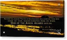 God Of Angel Armies Acrylic Print by Constance Woods