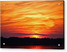 God Paints The Sky Acrylic Print