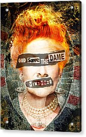 God Save The Dame - Vivienne Westwood Portrait Acrylic Print
