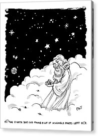 God Stands In A Cloud Formation In Space Acrylic Print