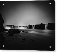 Acrylic Print featuring the photograph Godafoss by Frodi Brinks