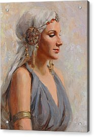 Goddess Acrylic Print by Anna Rose Bain