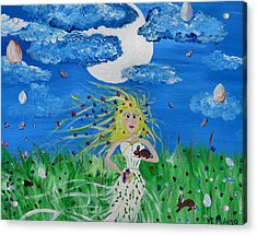 Goddess Eostre Acrylic Print by Art Dingo