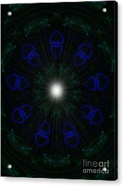 Acrylic Print featuring the digital art Goddess Love by Roxy Riou