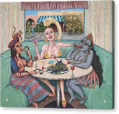 Goddess Lunch Acrylic Print by Holly Wood
