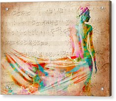 Goddess Of Music Acrylic Print