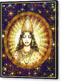 Goddess Of Stars Acrylic Print by Ananda Vdovic