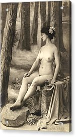 Goddess Of The Hunt Acrylic Print by Underwood Archives