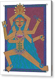 Goddess Of Well-being Acrylic Print by Sharon Woodward