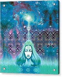 Godess Wisdom Acrylic Print by Thomas Ambrose DENNEY