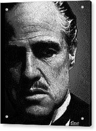 Godfather Marlon Brando Acrylic Print by Tony Rubino