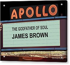 Godfather Of Soul Acrylic Print by Michael Lovell