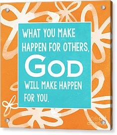 God's Gift Acrylic Print by Linda Woods