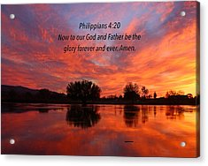 God's Glory Acrylic Print